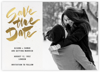 Johanna Photo - White - Paperless Post - Gold and metallic save the dates