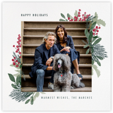 Yule Blooms Holiday (Square) - Paperless Post - Holiday cards