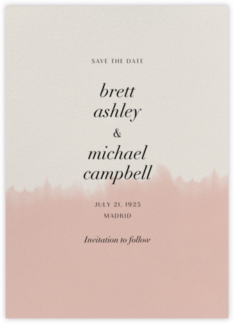 Dip Dye - Antique Pink - Paperless Post - Save the dates