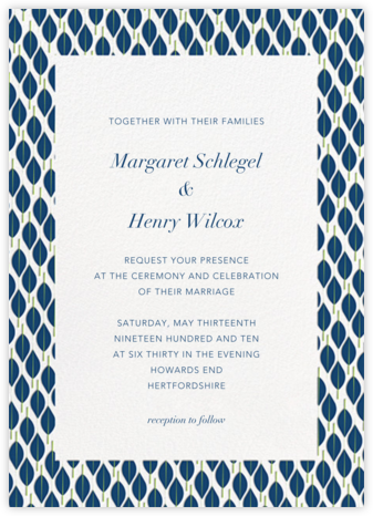 Mille Feuille - Dark Blue - Paperless Post - Wedding Invitations