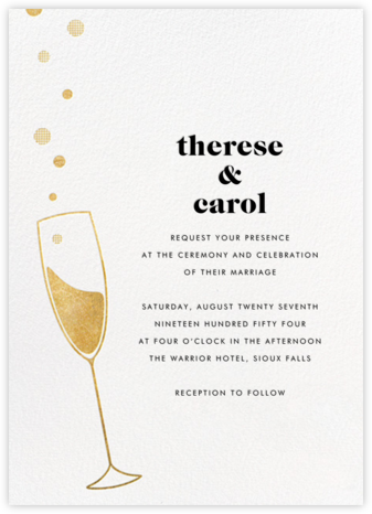 Champagne Bubbles - Paperless Post - Wedding Invitations