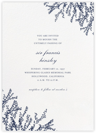 Forsythia (Invitation) - Navy - Paperless Post - Online Party Invitations