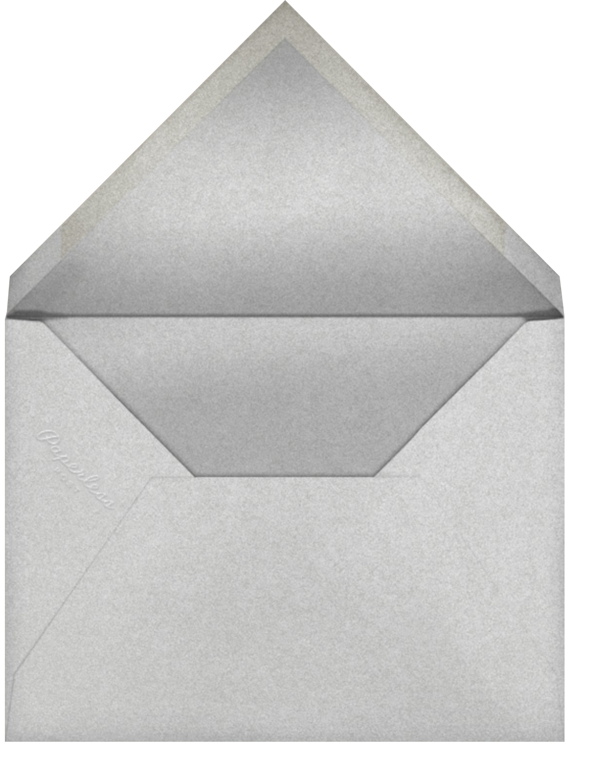Polar Hangover - Silver - Paperless Post - Cocktail party - envelope back