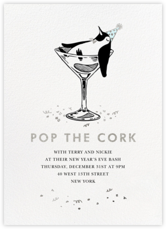 Polar Hangover - Silver - Paperless Post - New Year's Eve Invitations