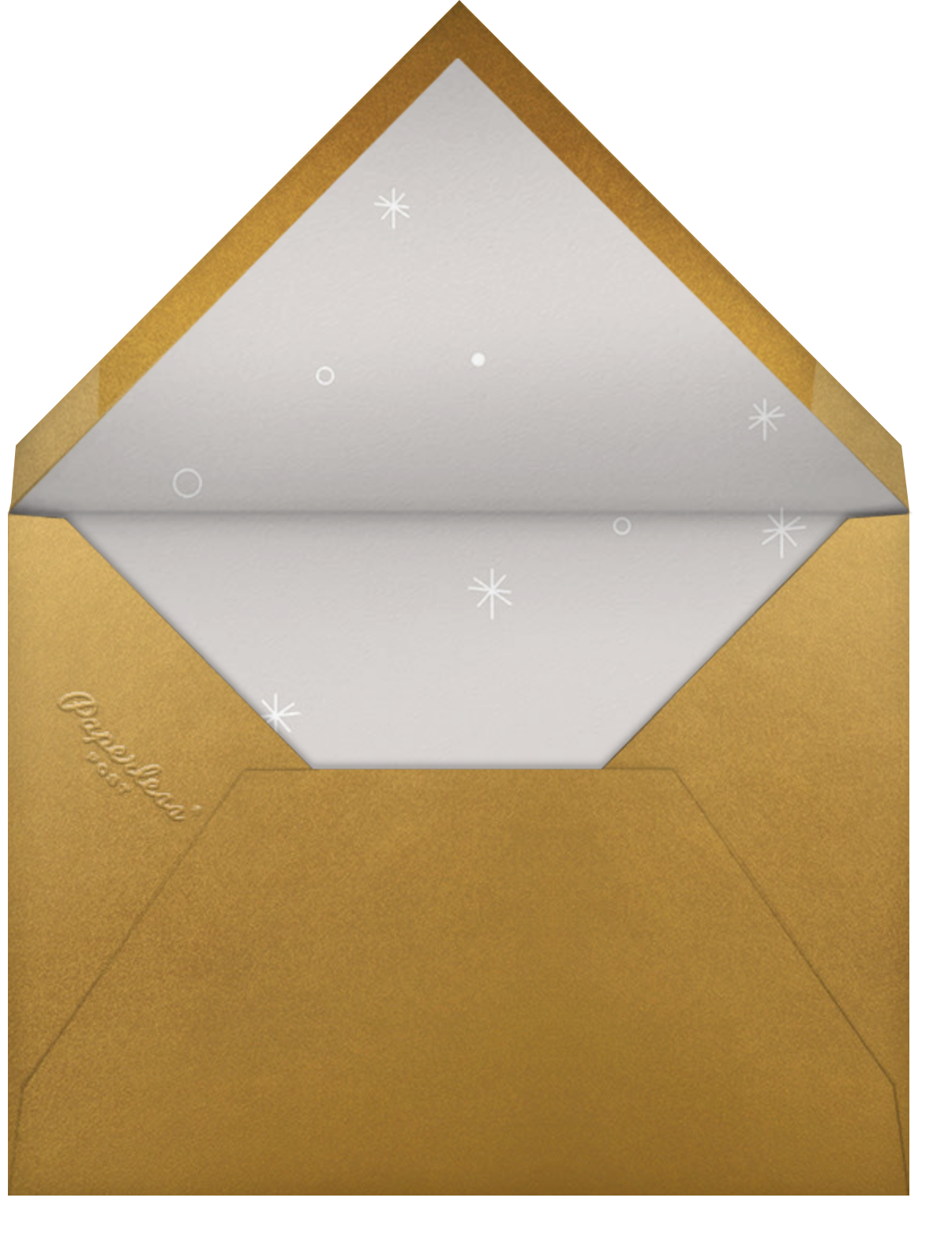Polar Hangover - Gold - Paperless Post - Christmas party - envelope back