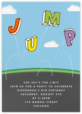 Airborne - Paperless Post - Online Kids' Birthday Invitations
