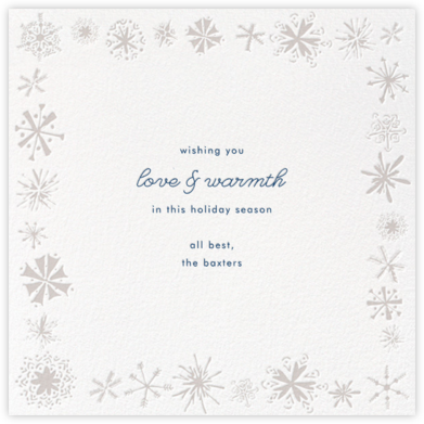 Freehand Snowflake - Paperless Post - Holiday Cards