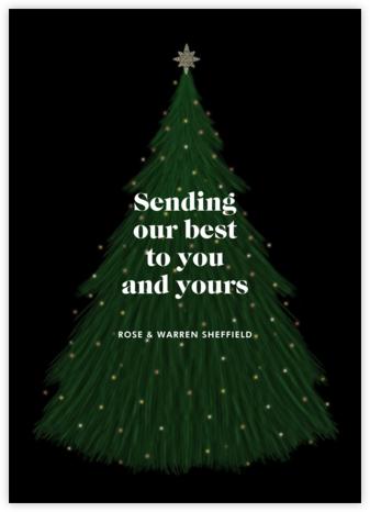 Tannenbaum Nightlight - Paperless Post - Holiday Cards