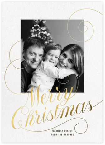 Christmas Curlicue - Paperless Post - Christmas Cards