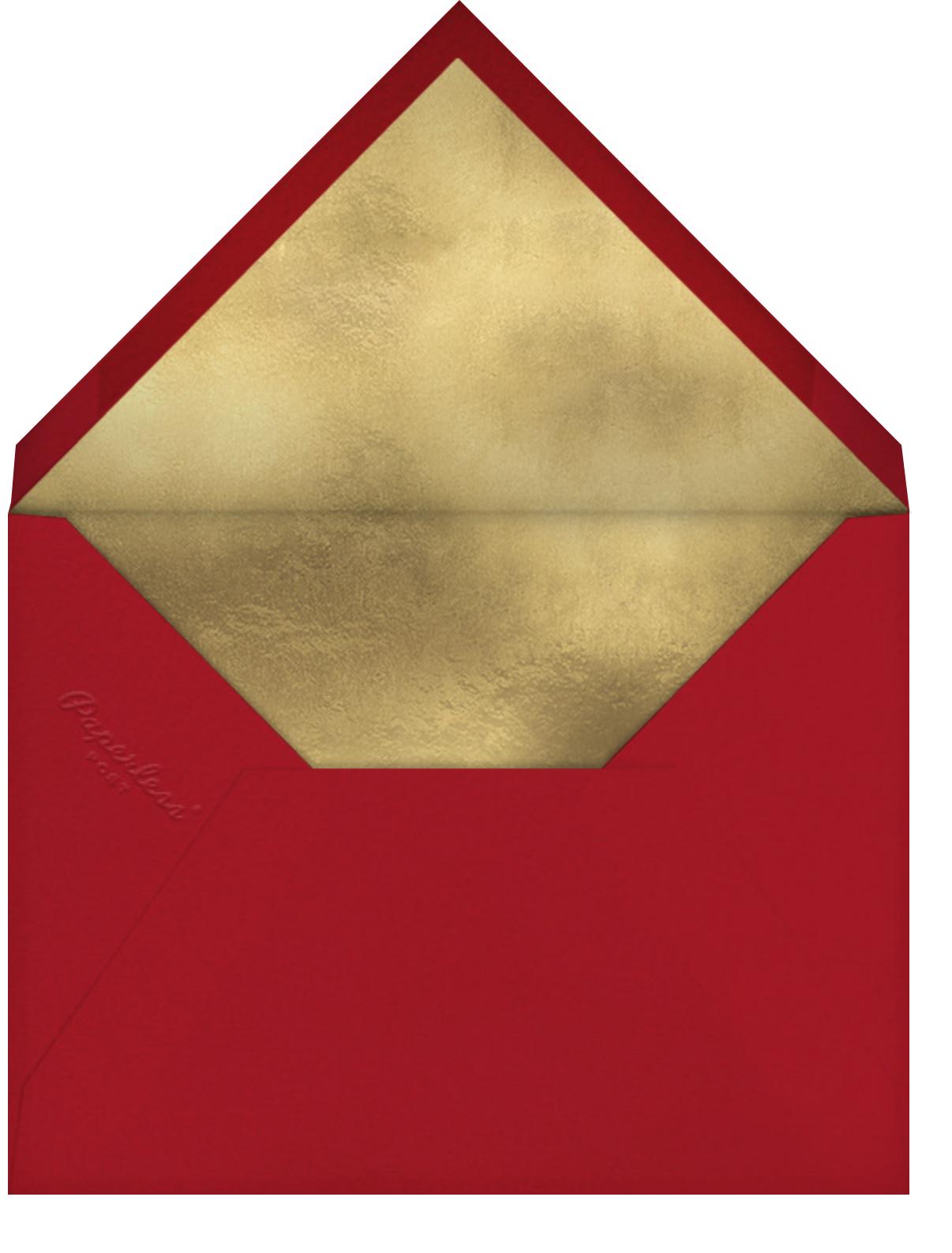 Christmas Curlicue - Paperless Post - Envelope