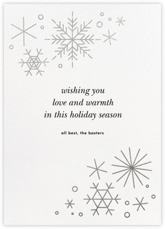 No Two Alike - Silver - Paperless Post - Holiday Cards
