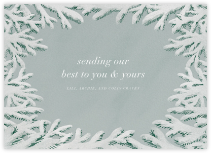 Spruce Clearing - Paperless Post - Holiday cards