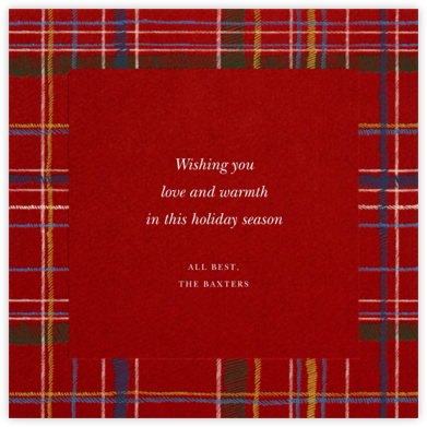 Contemporary Plaid (Square) - Paperless Post - Holiday cards