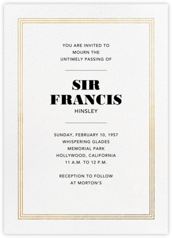 Triple Interior Border (Tall) - Gold - Paperless Post - Invitations