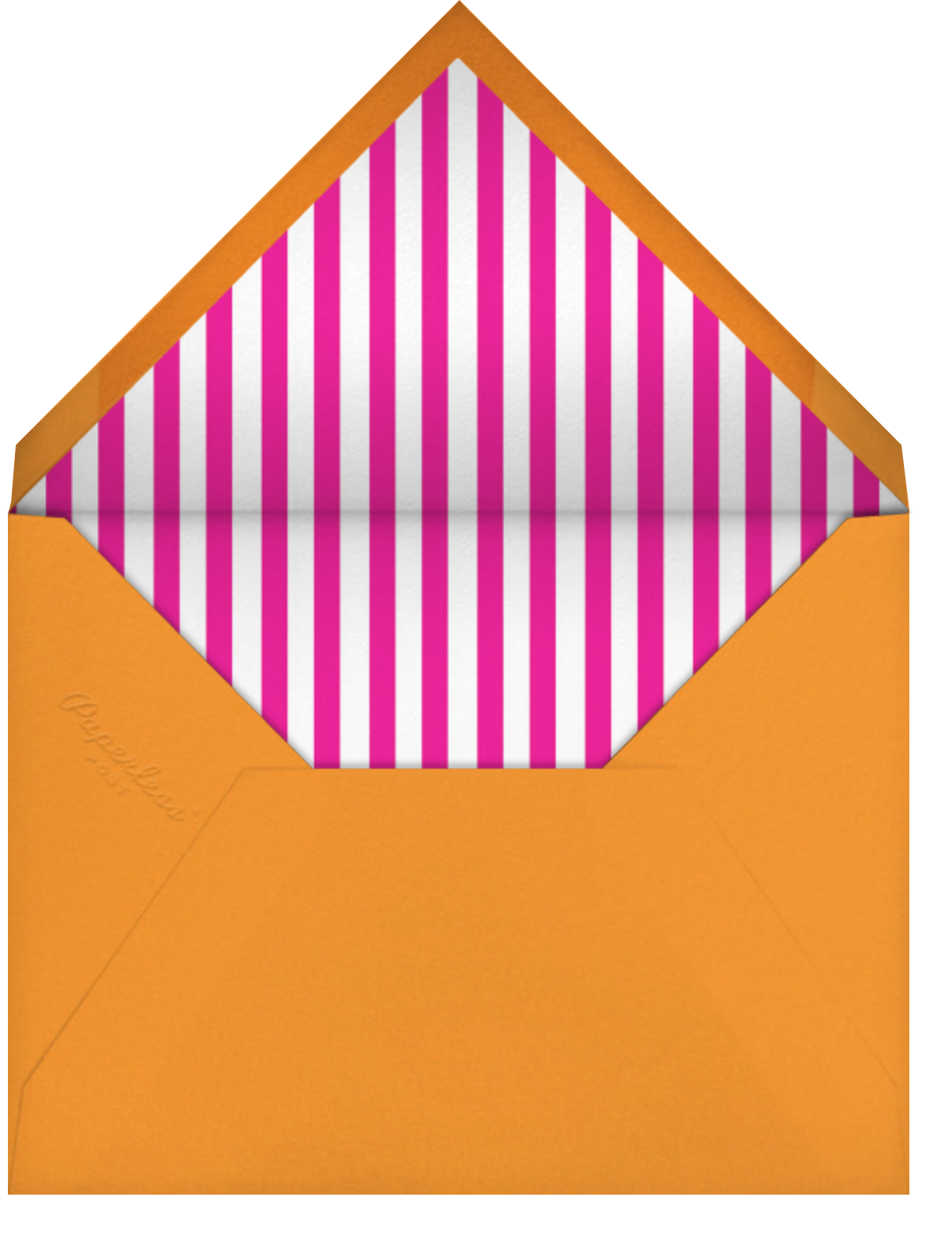 Glory of Love - Orange - Jonathan Adler - Just because - envelope back