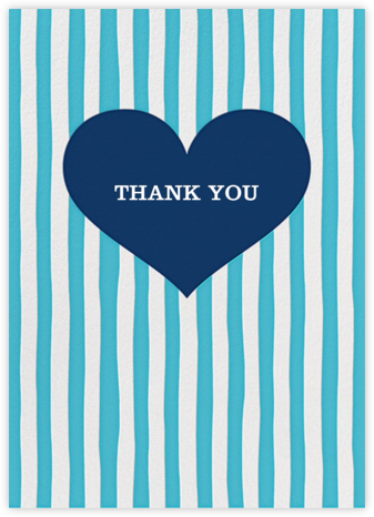 Glory of Love - Blue - Jonathan Adler - Online Thank You Cards