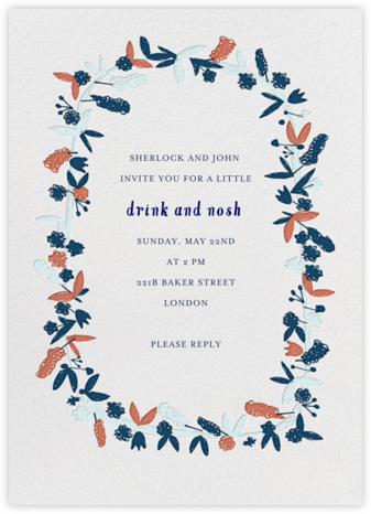 Fresh Cut Flowers - Primaries - Mr. Boddington's Studio - Dinner Party Invitations
