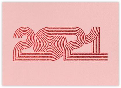 Psychedelic Twenty - Pavlova - Paperless Post - New Year Cards