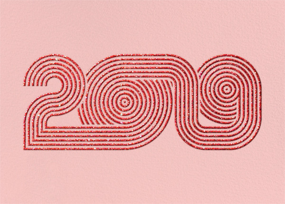 Psychedelic Nineteen - Pavlova - Paperless Post - New Year cards