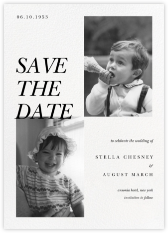 There and Then - Paperless Post - Photo save the dates