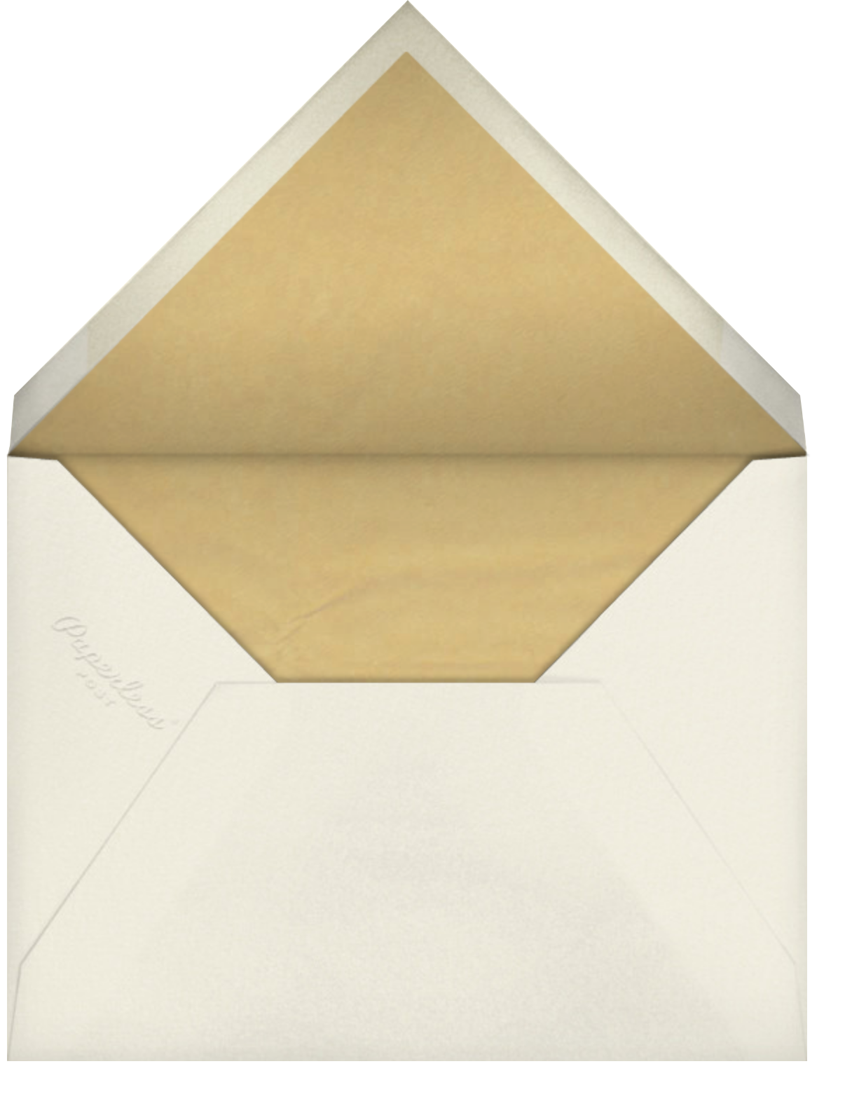 There and Then - Paperless Post - Save the date - envelope back