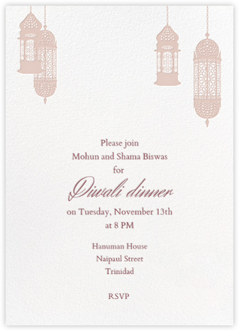 Tangiers - Antique Pink - Paperless Post - Diwali invitations