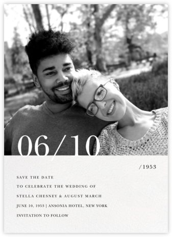 Here and Now - Paperless Post - Wedding Save the Dates