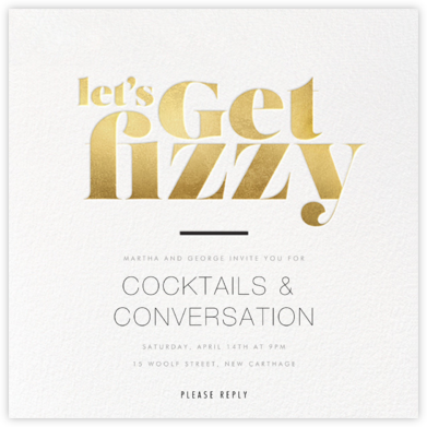 Getting Fizzy With It - bluepoolroad - Winter entertaining invitations