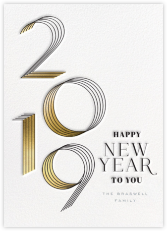 2019 Lines - bluepoolroad - New Year cards