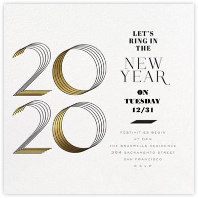 2020 Lines (Invitation) - bluepoolroad - New Year's Eve Invitations