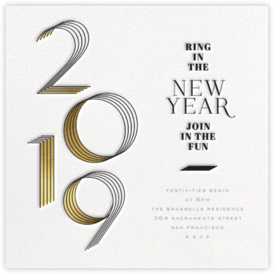 2019 Lines (Square) - bluepoolroad - bluepoolroad invitations and cards