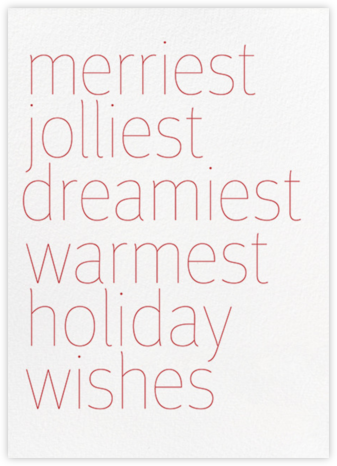Wishes - White - bluepoolroad - Holiday Cards