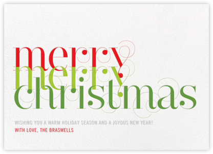Merry Merry Christmas - bluepoolroad - bluepoolroad invitations and cards