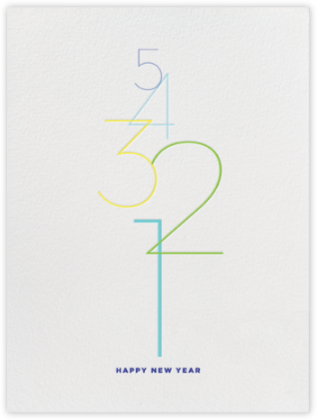 Countdown - White - bluepoolroad - New Year's Eve Invitations