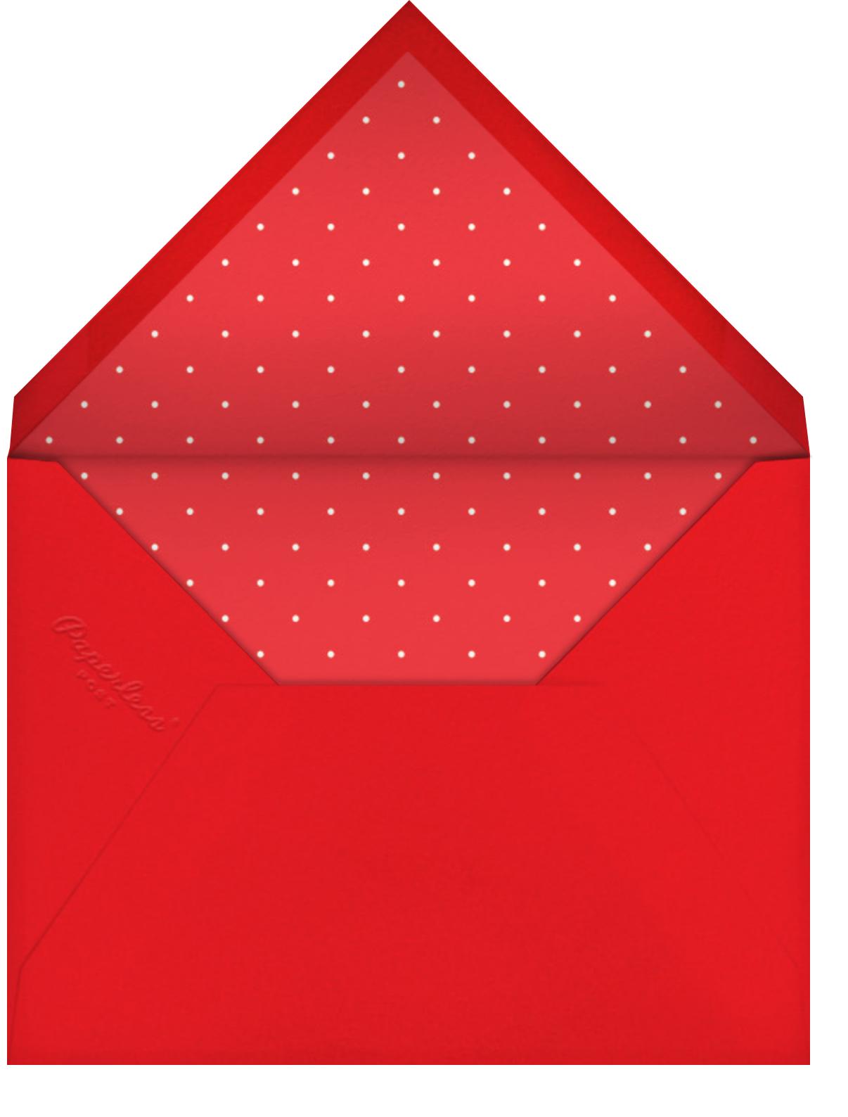 Written in Tinsel - White - Paperless Post - Christmas - envelope back