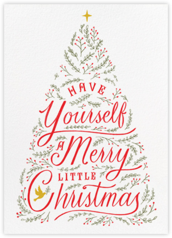 Written in Tinsel - White - Paperless Post - Christmas Cards