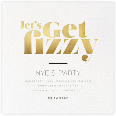 Getting Fizzy With It - bluepoolroad - New Year's Eve Invitations