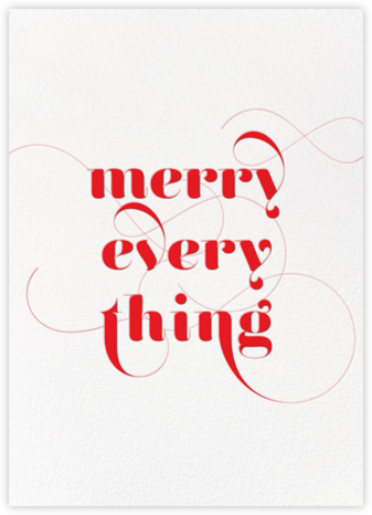 Merry Flourish - Red - bluepoolroad - Holiday cards