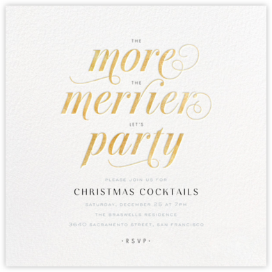 The More the Merrier - Gold - bluepoolroad - Christmas invitations