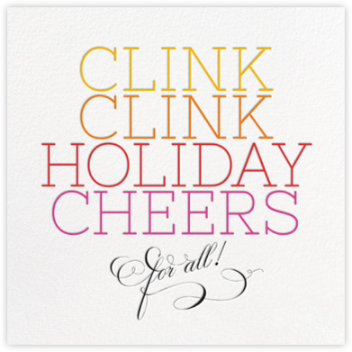Clink Holiday Cheers - Multi - bluepoolroad - New Year's Eve Invitations