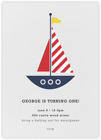 Ahoy! - Paper + Cup - First birthday and baby birthday invitations