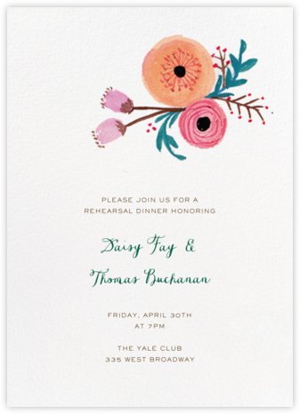 Pocket Full of Cool Flowers - Paper + Cup - Wedding Weekend Invitations