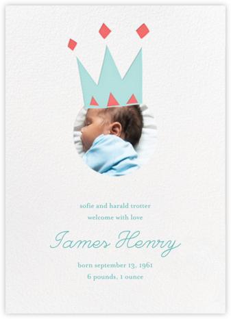 Royal Party (Photo) - Blue - Little Cube - Birth Announcements