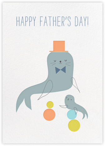 Father's Day for Barker - Little Cube - Father's Day Cards