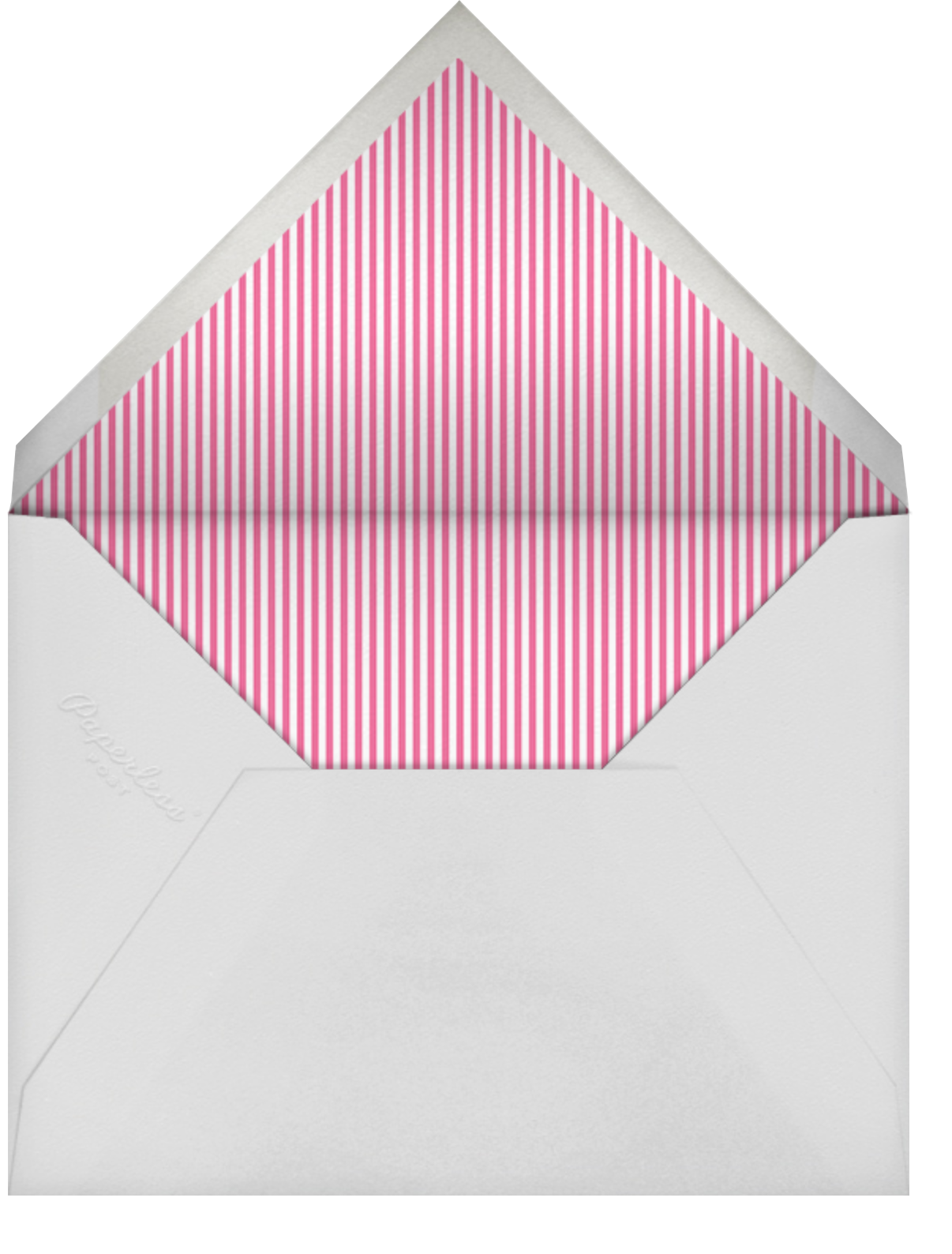 Royal Party (Photo) - Pink - Little Cube - Kids' birthday - envelope back