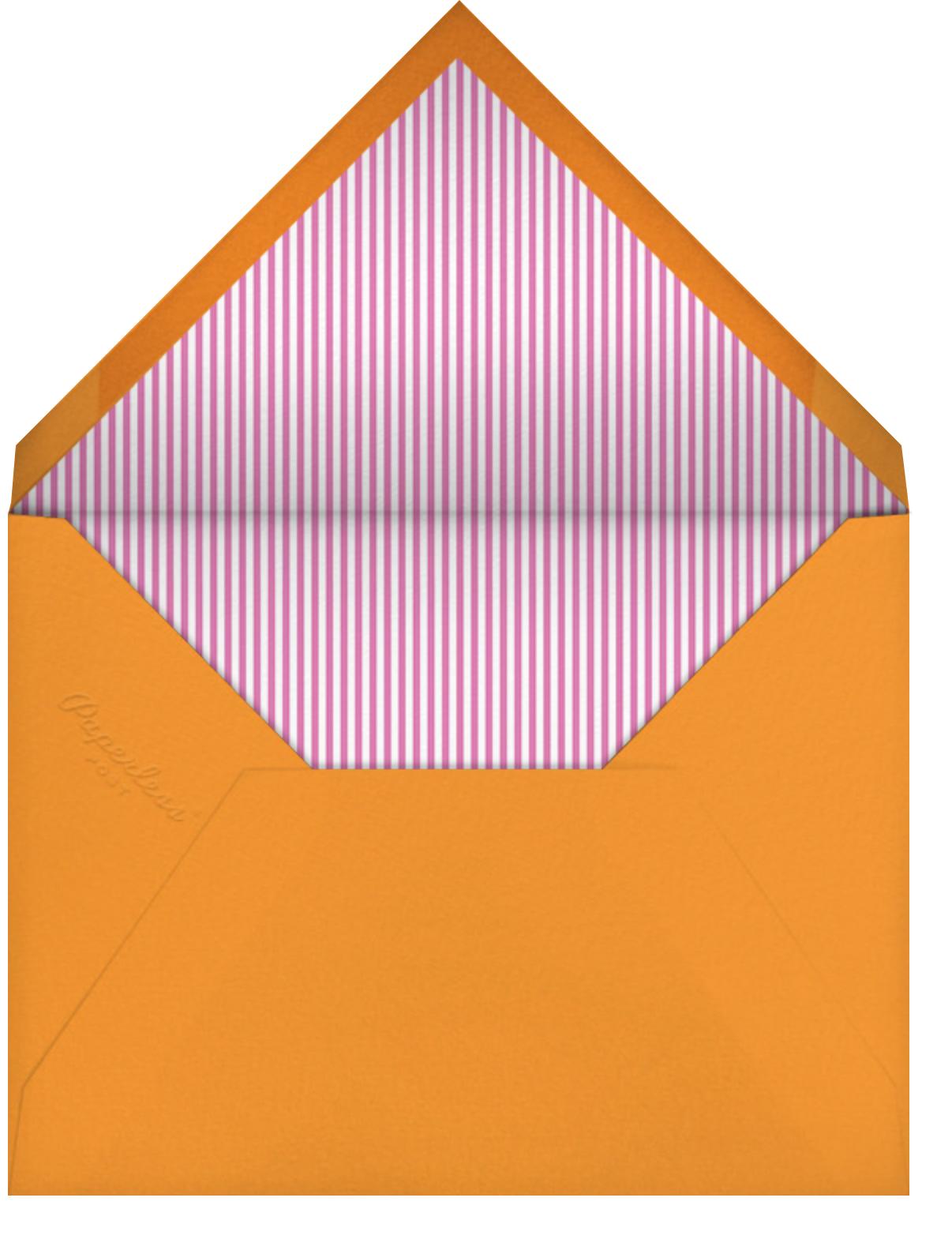 Circus Bonanza - Blossom - Little Cube - 1st birthday - envelope back