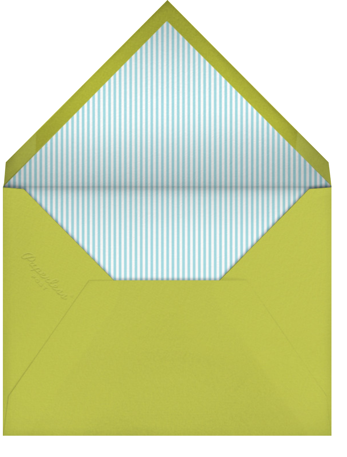 Birdie's Balloons (Photo) - Blue - Little Cube - Baby boy announcements - envelope back