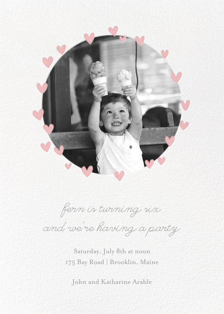 Little Heart Halo (Invitation) - Pink - Little Cube - Kids' birthday invitations