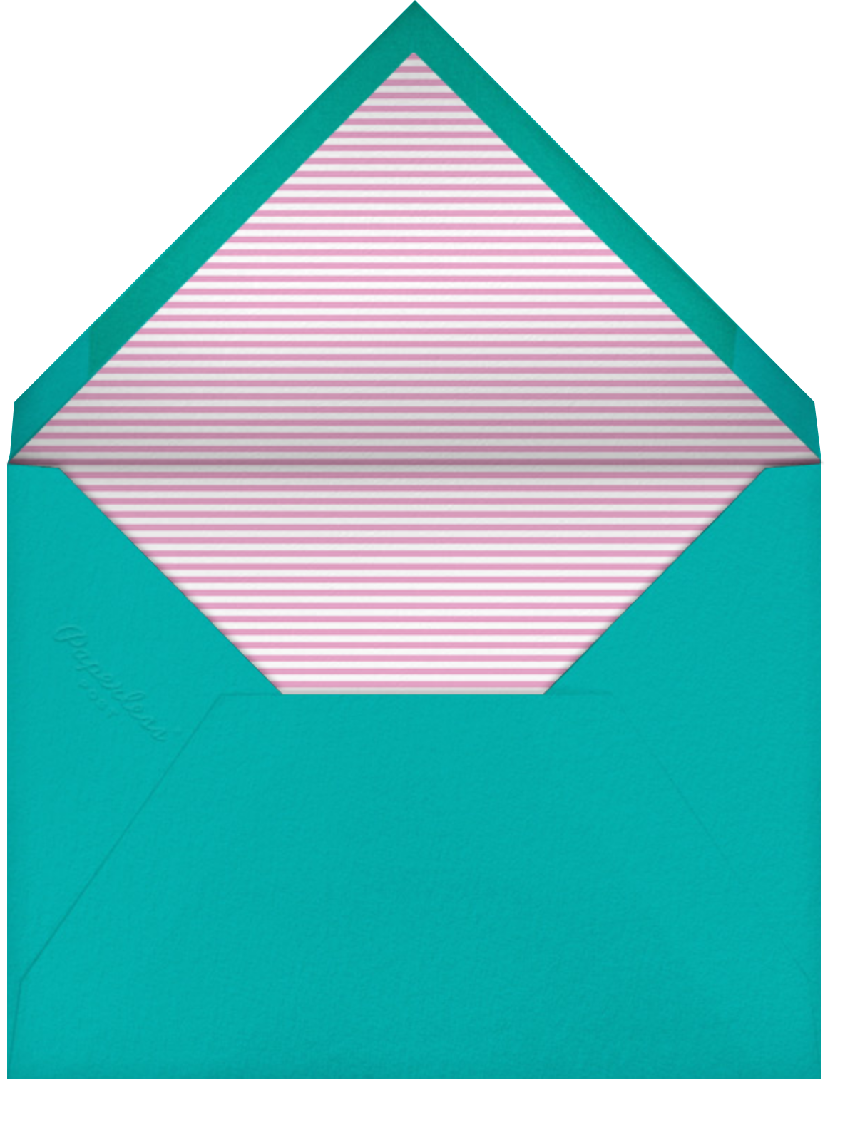 B Is For Baby - Little Cube - Baby shower - envelope back
