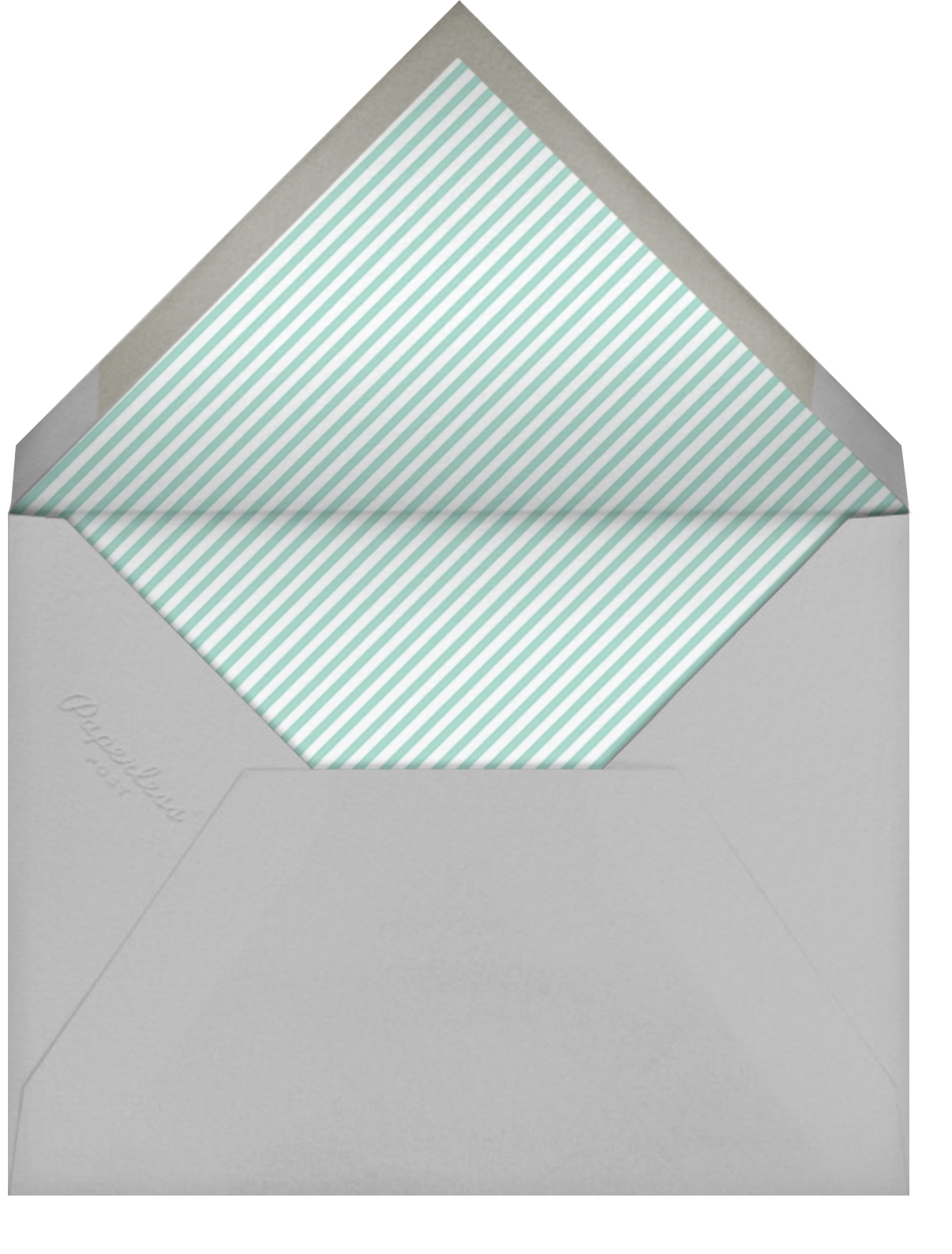 Birdie Makes A Wreath - Little Cube - Woodland baby shower - envelope back